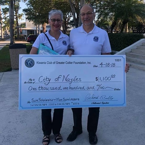 FLDPF Florida Drowning Prevention Foundation Aqua Ball Donates to City of Naples